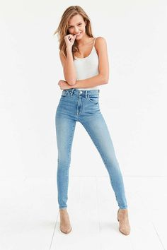 BDG Twig High-Rise Skinny Jean - Light Blue - Urban Outfitters // 26 (??)