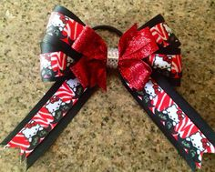 Boutique Hello Kitty Mustache Hair Bow  on Etsy, $7.00