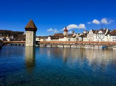 The Kapellbrücke in Lucerne, Switzerland