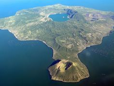 Now that the Taal Volcano erupted, let us clarify that the volcano is the one at the top–not the one at the bottom that can be viewed at Tagaytay : Philippines Manila, Filipino, Tagaytay Philippines, Visit Philippines, Taal Volcano, Mountain Bike Tour, Exotic Beaches, Tropical Beaches, Sailing Trips