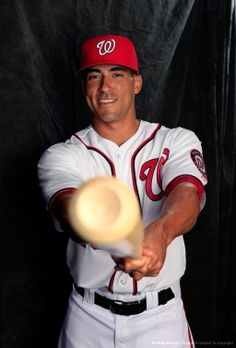 Washington Nationals Photo Day 2014 Ian Desmond. Until last year, I never noticed there is an indentation in the bat!