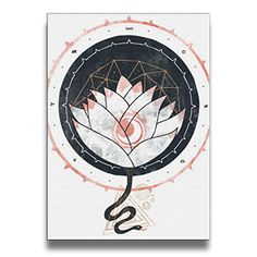 Bekey Lotus Canvas Prints Artwork For Home Office Decorations Wall Decor For Living Room&bedroom
