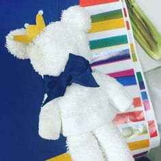 prince themed teddy bear towel