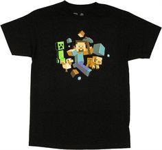 Minecraft Run Away T Shirt - http://demfab.com/minecraft-run-away-t-shirt/