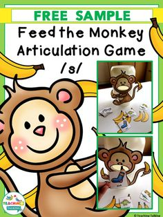 Work on articulation while feeding the monkey with this fun freebie! Articulation Activities by TeachingTalking.com