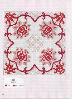 Cross Stitch Boarders, Cross Stitch Pillow, Cross Stitch Needles, Cross Stitch Flowers, Cross Stitch Designs, Cross Stitch Embroidery, Cross Stitch Patterns, Vintage Cross Stitches, Vintage Embroidery