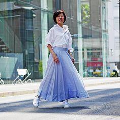 MADISONBLUEのリネンサーキュラースカートです。こちらの商品は、【集英社公式通販 mirabella】で購入できます。