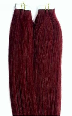 100% Human Tape In Hair Extensions #99J Burgundy Red Wine http://shop.hairfauxyou.com/Tape-In-Hair_c105.htm