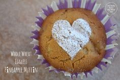 Whole Wheat Eggless Pineapple Muffins | by The Belly Rules the Mind