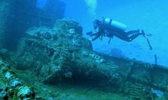 Phenomenal images of sunken tanks, aircraft and military equipment from WWII. Japanese, German, British, and American mighty machines laying on the ocean floor. Scuba diving can be fun.