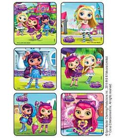 Sticker Pack - Little Charmers Scene Square - Party Favors