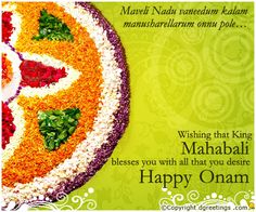 Dgreetings    May all your dreams come true have a Happy Onam...