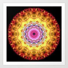 Mandala - Pink Passion Art Print by Zandiepants - $16.00