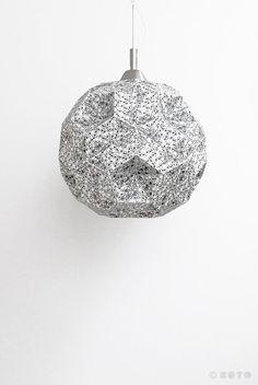 Lampara de papel. Dodecaedro calaveras por ZETAestudiotaller