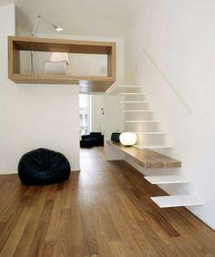 ground wooden stairs design