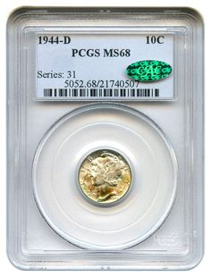 David Lawrence Rare Coins has this item on Collectors Corner - 1944-D 10C MS68 PCGS