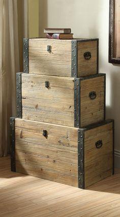 Wooden storage chests #furniture_design