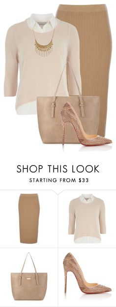 Untitled #946 by mkomorowski on Polyvore featuring Dorothy Perkins, Wallis, Christian Louboutin, kangol and Ruby Rocks