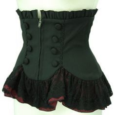 I really do like this. I would honestly prefer it to either not have a zipper and instead have hooks and eyes on the inside or for it to have a hidden zipper. I just don't like the look of zippers on steampunk stuff. :/ Other than that it's beautiful.