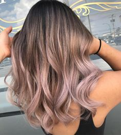 Chocolate lilac hair is the perfect trend for brunettes to . - Chocolate lilac hair is the perfect trend for brunettes to try this season – balayage hair - Hair Dye Colors, Cool Hair Color, Natural Hair Colour, Short Hair Colour, Medium Length Ombre Hair, Natural Ombre Hair, Natural Beauty, Perfect Hair Color, Cute Hair Colors