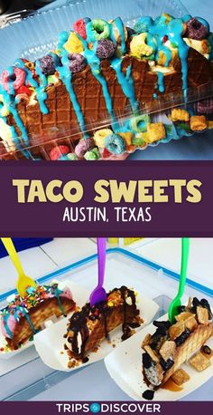 Foodie travel 372602569170844400 - Taco Sweets Serves Up Dessert Tacos in Austin, Texas Source by TheTravellingBlizzards Texas Roadtrip, Texas Travel, Travel Usa, Travel Europe, Travel Destinations, Travel Tips, Austin Texas Restaurants, Sweet Taco, Taco Restaurant