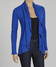 Another great find on #zulily! Royal Blue Drape Open Cardigan #zulilyfinds