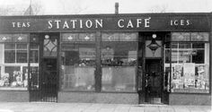 The Station Café at Cambuslang, Lanarkshire, c. A popular venue for a cup… Fish And Chip Shop, Tea Station, Glasgow Scotland, Fish And Chips, Places Ive Been, Tea Cups, Past, Doorway, City
