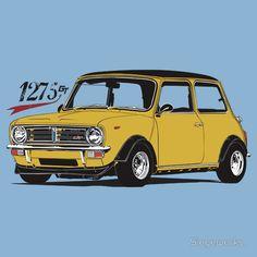 Clubman 1275gt Mini Clubman, Mini Countryman, Classic Mini, Classic Cars, Mini Morris, Mobile Art, Car Illustration, Automobile, Classic Motors