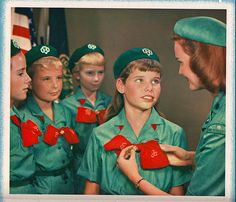 Vintage Girl Scout uniforms, it's in the details!