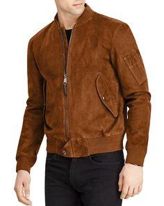 5bae58c5dd Polo Ralph Lauren Suede Bomber Jacket  795.00 Brown Suede Jacket