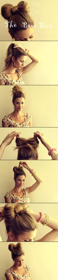 #DIY Bow Bun How To
