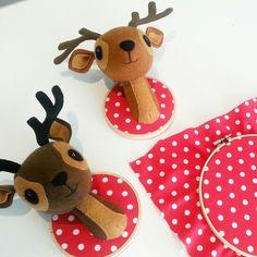 Faux taxidermy deer heads by @cupcakecutieone #deer #fauxtaxidermy