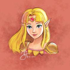 Princess Zelda (#TLOZ - A Link Between Worlds) by tiannangel