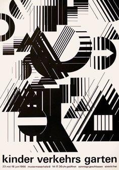 M. A. Kuster – Poster for children's traffic school, 1966