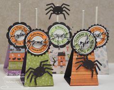 Lollipop Treat Die-namics and Stamp Set, Spider Web Die-namics - Karen Giron