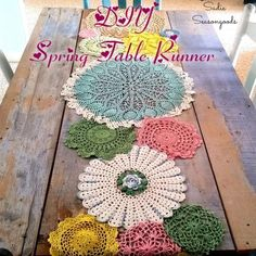 You have to see this tutorial on how to make #DIY doily table runner for spring decor #HomeDecorIdeas @istandarddesign