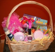 8yrs old Girl's Sleepover Party gift basket