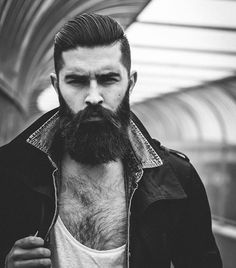 Barba: Chris John Millington by Tommy Cairns I Love Beards, Great Beards, Awesome Beards, Epic Beard, Sexy Beard, Full Beard, Hairy Men, Bearded Men, Hair And Beard Styles