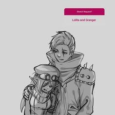 Granger and Lolita (♥´∀`)/ mobile legends Legend Drawing, Mobile Legend Wallpaper, Alucard, Lolita, Mobile Legends, Bang Bang, Anime, Cartoon Wallpaper, League Of Legends