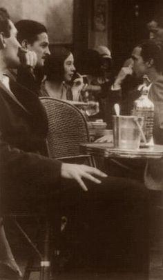 Paris Sidewalk Cafe, 1920's