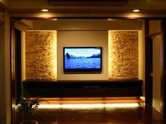 ʚ❤︎ɞ Make a board Tv Wanddekor, Modern Tv Wall Units, Entertainment Wall Units, Tv Wall Decor, Tv Unit Design, Unique House Design, Spanish Style Homes, Room Planning, Wall Cladding