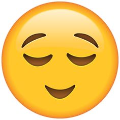 Did you just get some good news? Show how you feel with this happy little emoji who is breathing a sigh of relief.