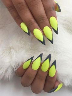 Stiletto Nails- cool idea for summer...