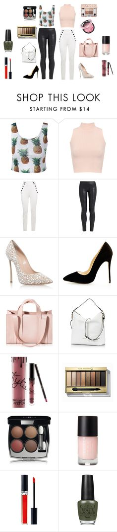 """Friends go out"" by hollythehippo on Polyvore featuring WearAll, The Row, Casadei, Corto Moltedo, Coccinelle, Kylie Cosmetics, Max Factor, Chanel, Christian Dior and OPI"
