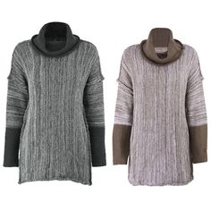 Women Casual Autumn High-Neck Long Sleeve Knit Warm Sweater Jumper Pullover Tops