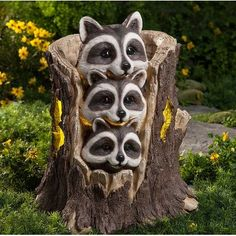 Garden statues for every style. Choose metal garden art, fountains, animal statues, fairies, dragons and more. Many garden sculptures feature solar lights. Tree Carving, Solar Panels For Home, Garden Statues, Garden Sculptures, Wood Sculpture, Garden Art, Fairies Garden, Succulent Planters, Hanging Planters