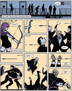 Clint's love and respect for Kate. She's not his side-kick, they're a team. | Community Post: 24 Reasons Why You Should Be Reading Matt Fraction's Hawkeye