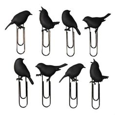 black bird paperclips