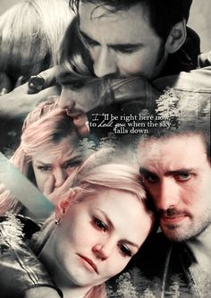 """enchanted-keys:Captain Swan""""I will always be the one who took your place, when the rain falls I won't let go, I'll be right here.- Right here, Ashes Remain"""