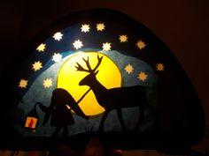 Jahreszeitentisch - Waldorf Transparentbild Tomte - ein Designerstück von Puppenprofi bei DaWanda
